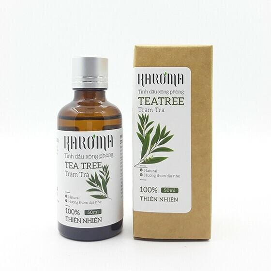 Tinh dầu xông phòng tràm trà Karoma 50ml giảm 37% còn 125.000 đồng; mang lại cho bạn không gian sống thơm mát và thoáng đãng.