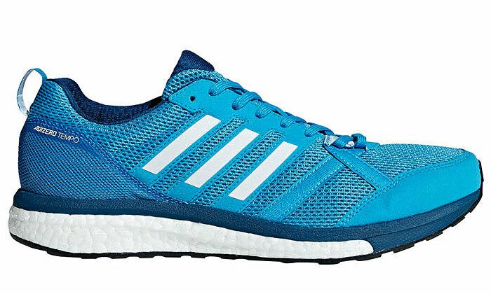 Giày chạy bộ Adidas Adizero Tempo 9m Legend Marine - B37422là dòng giày marathon lấy cảm hứng thiết kế từ những đôi giày chạy bộ của thập niên 1980 kết hợp công nghệ tiên tiến của thế kỷ 21. Lớp lưới đan phần thân trên thiết kế từ vải Microsuede để tăng độ bền và thoáng khí. Mắt lưới cấu tạo đóng - mở linh hoạt, ôm khít bàn chân và làm giảm nguy cơ bị cọ xát, phồng rộp cho người sử dụng. Khối lượng chưa đến 300 gram,thích hợp với những người luyện tập thường xuyên, liên tục. Đế làm từ cao su continental và lớp đệm nâng đỡ, cho bạn cảm giác chạy nhanh và êm.Lớp đệm (cushioning) tập trung ở gót, giúp bạn luôn hướng về phía trước, với lực tác động trọng tâm lên mũi giày.Sản phẩm có các size từ 41 đến 44, đang được bán với mức giá ưu đãi 2,331 triệu đồng.