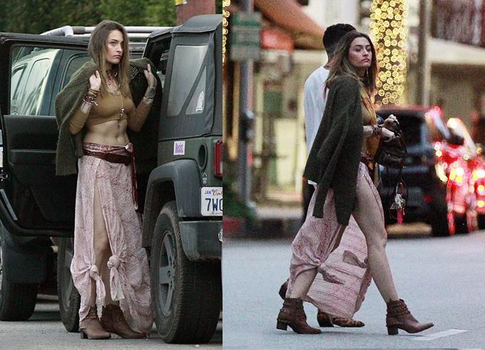 Paris Jackson phong cách trên phố.