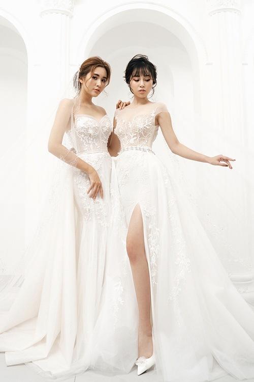 Cô dâu có lợi thế hình thể có thể chọn những kiểu váy ôm sát như đuôi cá, trumpet hay váy xẻ đùi cao.