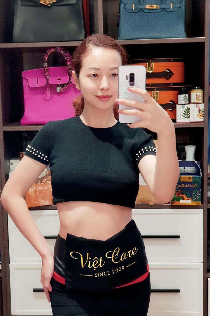 Sau liệu trình 15 buổi, vòng bụng của hoa hậu Jennifer Phạm giảm 8cm.