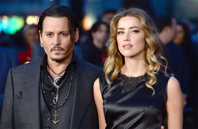 Johnny Depp và vợ cũ - Amber Heard.