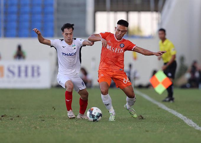 Văn Toàn là điểm sáng lớn nhất của HAGL trong trận đấu với Đà Nẵng. Ảnh: VPF.