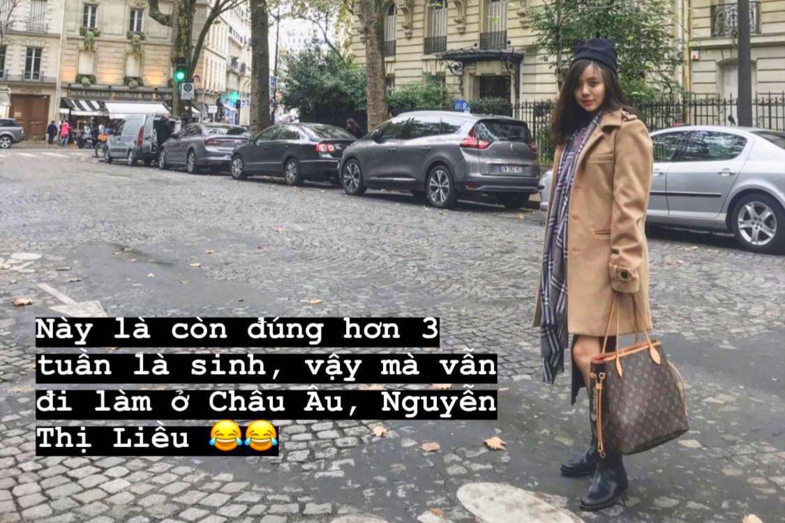 Mang thai lớn, Bảo Ngọc vẫn chăm chỉ làm việc, từ Sài Gòn đến Đà Nẵng hay tận châu Âu. Cô đùa bản thân là Nguyễn Thị Liều khi vẫn di chuyển nhiều trong giai đoạn quan trọng.