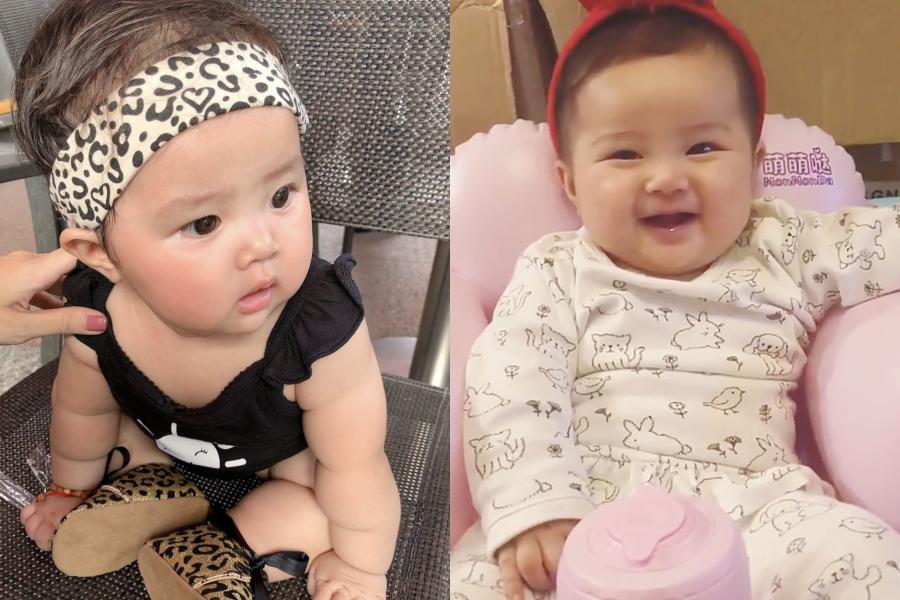 Bé Gà mũm mĩm, đáng yêu. Bảo Ngọc tiết lộ con gái có nhiều nét giống mẹ lúc nhỏ.