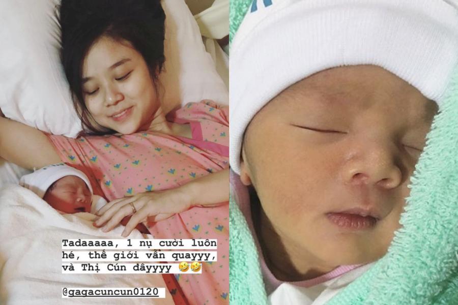Bảo Ngọc hạnh phúc chào đón con gái thứ hai. Cô đặt tên bé là Vy Lam, tên thân mật Cún.