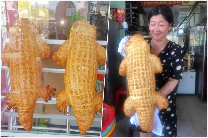 Bánh mì cá sấu. Ảnh Thanh Nguyễn