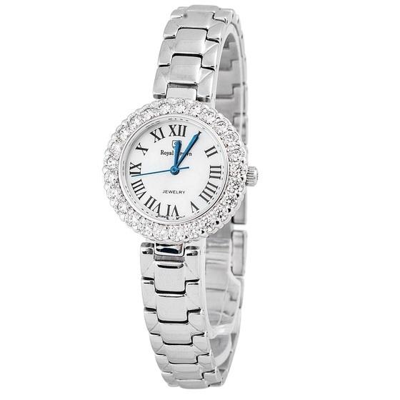 Đồng hồ nữ chính hãng Royal Crown 6305 dây thép giảm 50% còn 1,099 triệu đồng; hình dáng mặt tròn; chất liệu dây đeo bằng thép 316L; đường kính 29 mm; độ dày 4 mm; chống thấm 3ATM.
