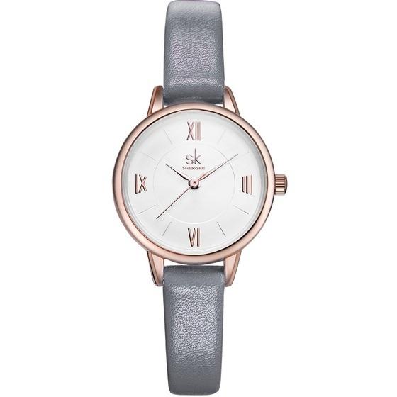 Đồng hồ nữ chính hãng Shengke United Kingdom K8060L giảm 8% còn 459.000 đồng; kích thước 28 mm; chất liệu dây da chính hãng; chống nước 3ATM (đi mưa, rửa tay thoải mái).