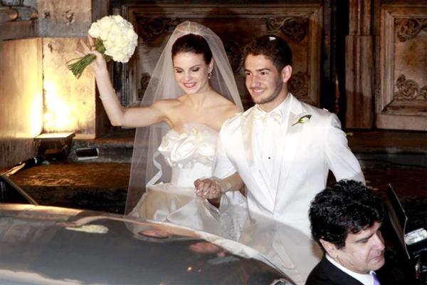 Pato và người vợ đầu Brito trong ngày cưới năm 2009. Ảnh: Sun.