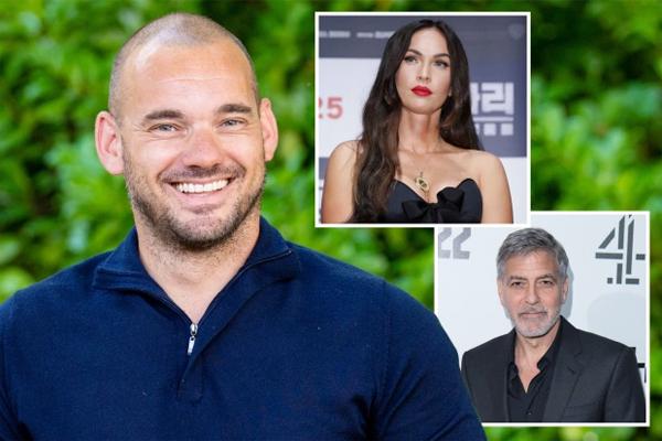 Sneijder kể chuyện tiệc tùng với cô đào Megan Fox và tài tử George Clooney. Ảnh: Sun.