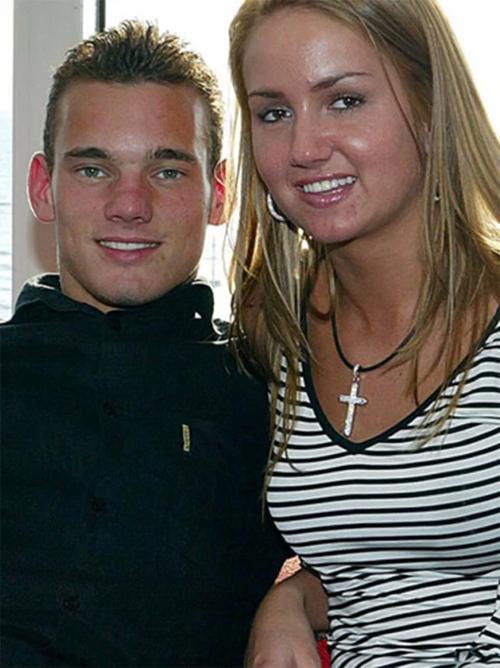 Sneijder và người vợ đầu Ramona