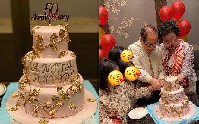 Bố mẹ Lê Tư bên nhau sau 50 năm ngày cưới.