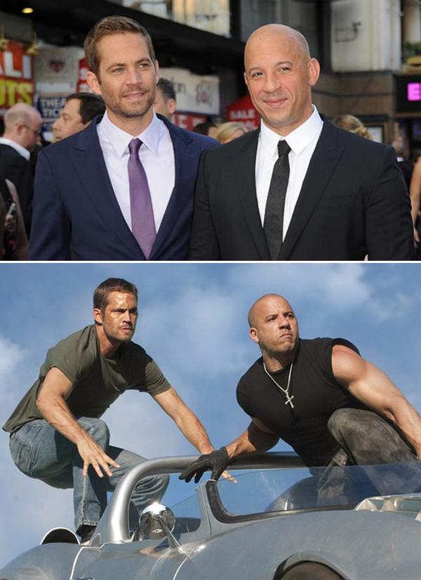 Paul Walker và Vin Diesel thân thiết ngoài đời cũng như trên phim.