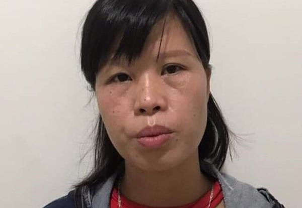 Phạm Thị Thành tại cơ quan công an.