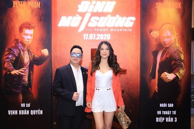 Trương Ngọc Ánh cùng MC Tùng Leo tại sự kiện. Là một người bạn của đoàn phim Đỉnh mù sương, diễn viên - nhà sản xuất phim Trương Ngọc Ánh mong dự án phim hành động - võ thuật này thành công khi ra rạp.