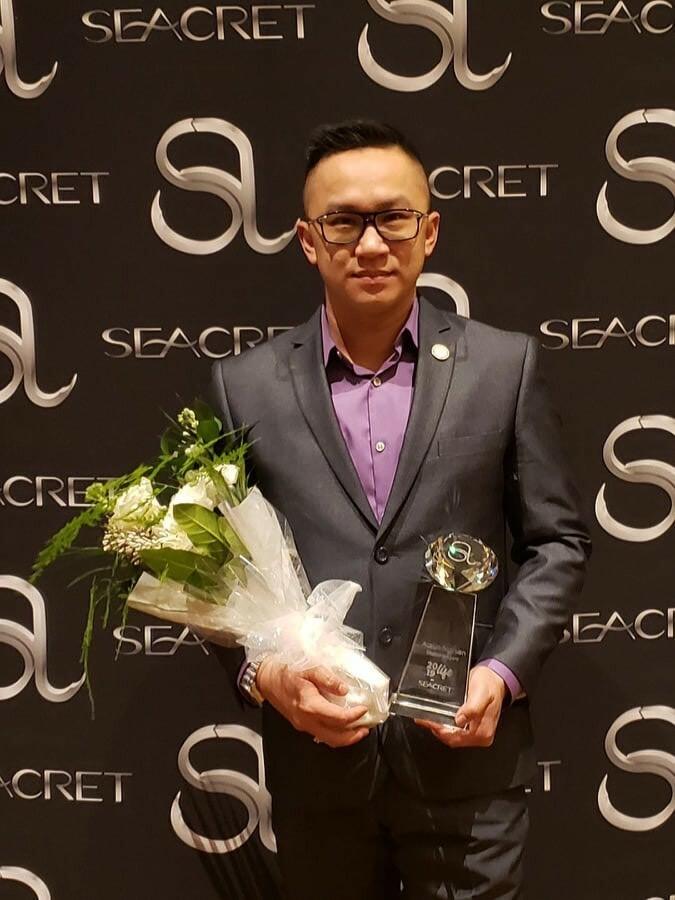 Trong 3 năm gần đây, anh còn phát triển thương hiệu mỹ phẩm Seacret tại thị trường Mỹ và Việt Nam. Hiện tại anh đã đạt tới cấp bậc Diamond của thương hiệu mỹ phẩm bùn và khoáng chất từ Biển chết này. Ngoài ra, anh cũng tiếp tục mở rộng thêm hoạt động kinh doanh với việc đại diện thương hiệu Trầm Hương Nguyễn tại Cali.