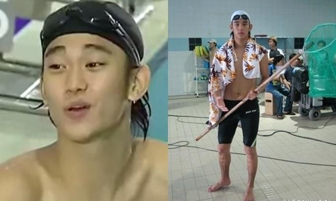 Kim Soo Hyun năm 19 tuổi trong phim Nụ cười kim chi phô mai.