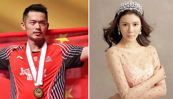 Lin Dan dính bê bối ngoại tình năm 2016 khi qua lại với người mẫu Triệu Nhã Kỳ trong lúc vợ vừa sinh con. Ảnh: SCMP.