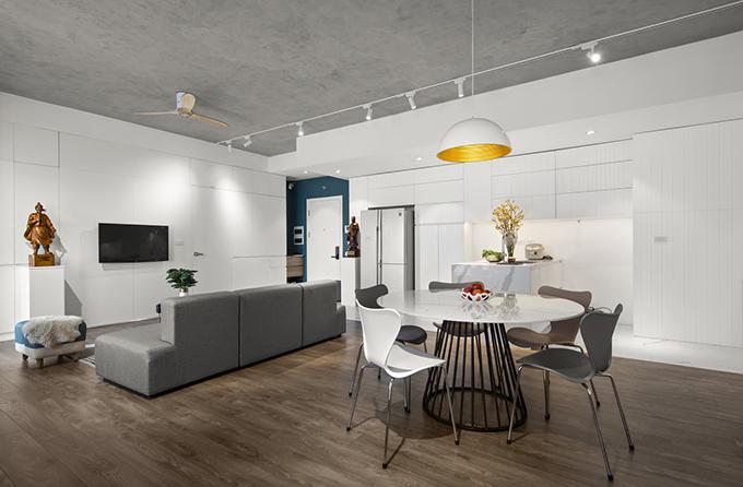 Nắm bắt được các thực trạng trên, khi bắt tay vào cải tạo căn hộ, nhóm KTS đã nghiên cứu, đưa ra phương án tối ưu để cải tạo không gian sống.
