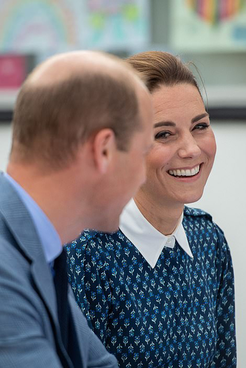 Kate Middleton dresses in NHS blue as she and Prince William visit Norfolk hospital to mark the health services 72nd birthday - 14