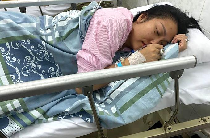 Phi Thanh Vân đang nằm viện vì bị viêm dạ dày cấp.
