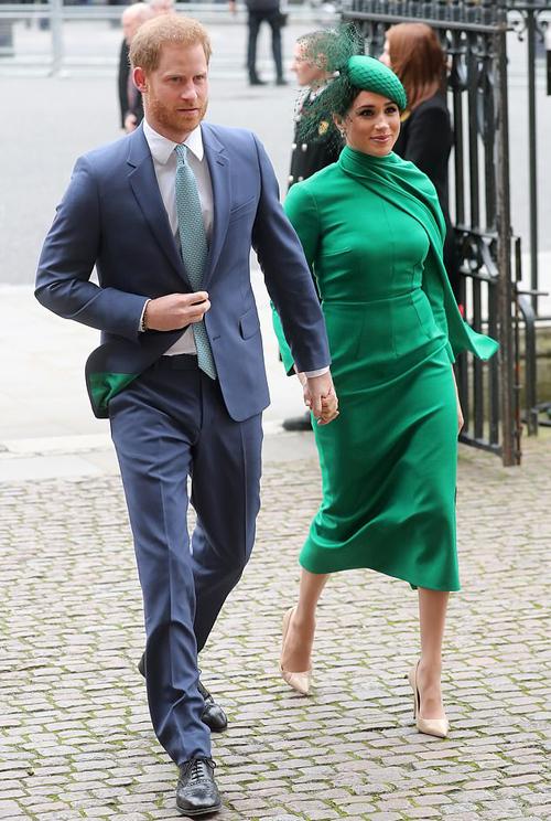 Harry và Meghan dự sự kiện cuối với tư cách thành viên cao cấp của hoàng gia ở Tu viện Westminster hôm 9/3. Ảnh: PA.