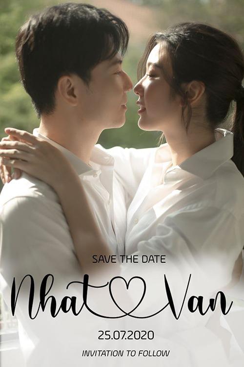 Thiệp Save the Date của vợ chồng Thúy Vân.