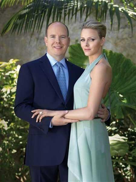 Vợ chồng Thân vương Monaco. Ảnh: AP.