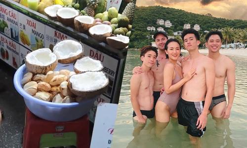 Vlogger Giang Ơi mê dừa sáp dằm thốt nốt