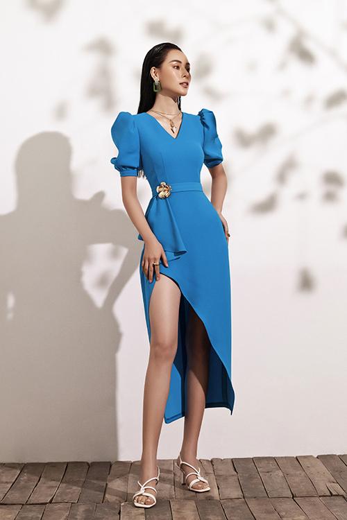 Đầm đi tiệc với tông xanh hot trend