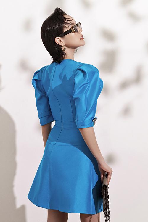 Đầm đi tiệc với tông xanh hot trend - 4