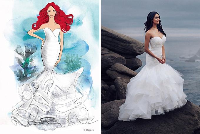Đội ngũ thiết kế đã làm việc không biết mệt mỏi để tạo nên các tác phẩm vì mỗi chiếc váy cưới đều có chi tiết phức tạp lấy cảm hứng đặc biệt từ những nhân vật vượt thời gian.