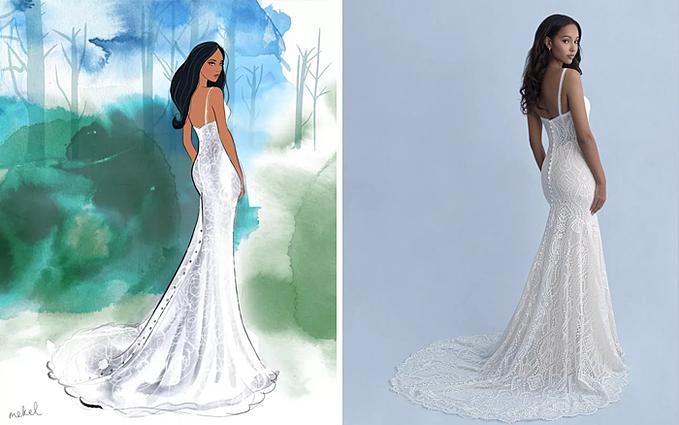 Rất nhiều cô dâu lớn lên cùng sự ngưỡng mộ với các công chúa Disney và được truyền cảm hứng từ câu chuyện, thời trang của họ, Kelly Crum, CEO của Allure Bridal chia sẻ trong thông cáo báo chí. Chúng tôi rất vinh dự được làm việc với Disney trong bộ sưu tập này và thấy sự lãng mạn trở nên sống động.