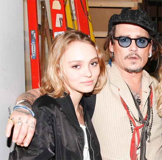 Johnny Depp và con gái, Lily-Rose Depp.