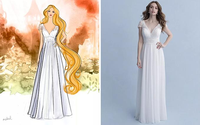 Nếu bạn lớn lên cùng những bộ phim hoạt hình Disney và luôn mơ về một đám cưới cổ tích - nơi bạn được làm nàng công chúa đích thực thì đừng bỏ qua các gợi ý váy cưới này. Từ đầu năm nay, Allure Bridal đã bắt tay cùng Disney để giới thiệu dòng váy cưới lấy cảm hứng từ các nữ anh hùng biểu tượng của hãng phim hoạt hình danh tiếng. Bộ sưu tập Disney Fairy Tale bao gồm 16 thiết kế có giá dao động từ 1.200 USD đến 10.000 USD, gồm các size 0-30.