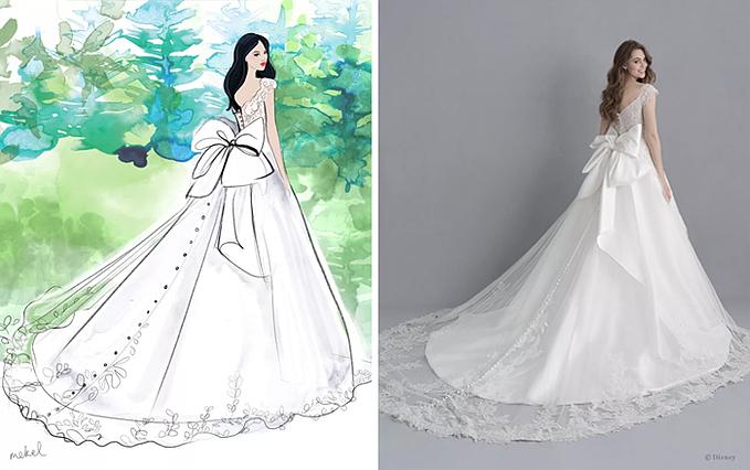 Gợi ý váy cưới dành cho cô dâu yêu mến nàng bạch tuyết (Snow white).