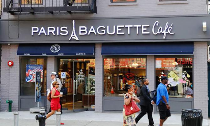 Một cửa hàng bánh Paris Baguette ở New York. Ảnh: Korea Times.