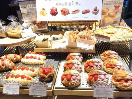 Một số loại bánh được bán tại của Paris Baguette ở Seoul, Hàn Quốc. Ảnh: Paris Baguette.