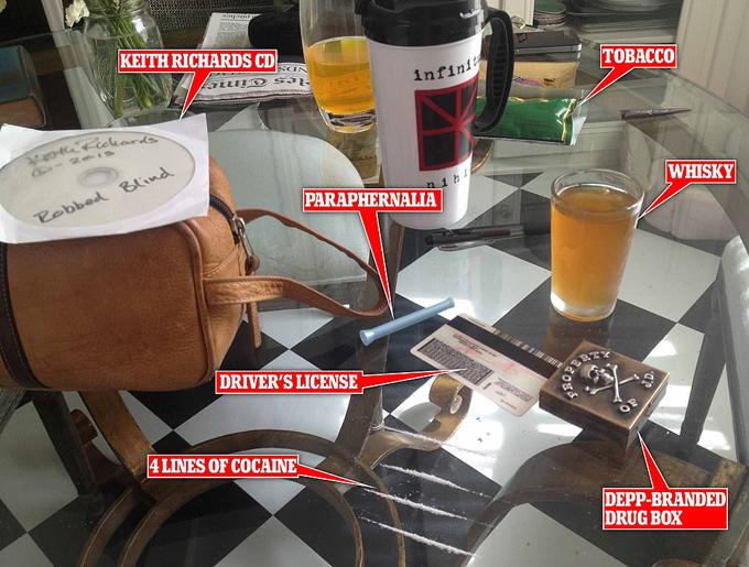 Amber Heard đưa bằng chứng Johnny Depp dùng rượu và ma túy.