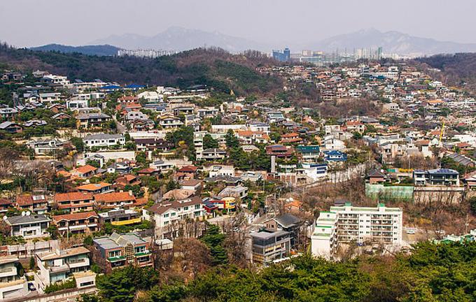 Khu vực đồi ở Seungbuk-dong, phía bắc Seoul.