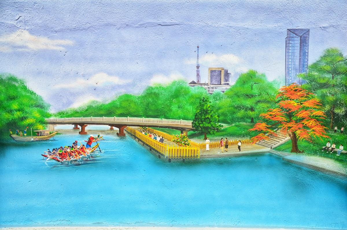 Sông Hương, cầu Phú Xuân và cầu gỗ lim