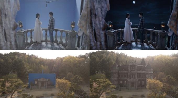 Căn nhà của nữ chính thực tế và trên phim.