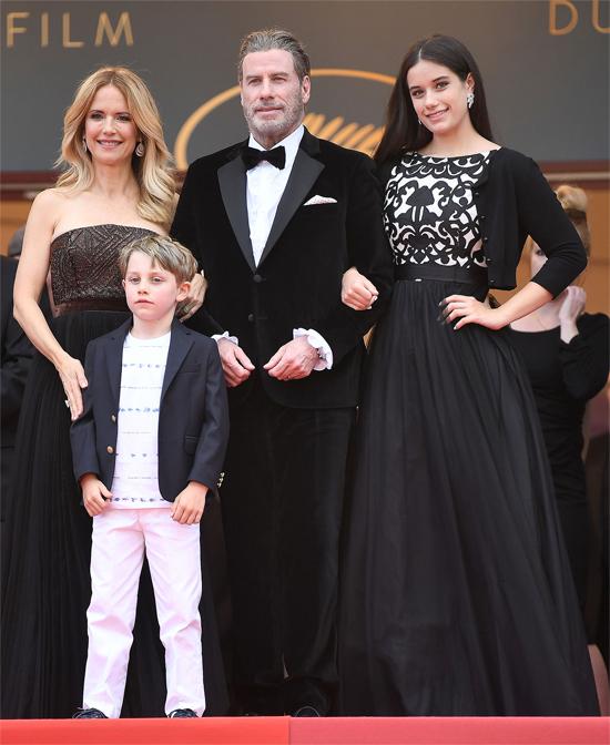 Kelly và John Travolta hiện có hai người con. Ảnh: Rex.