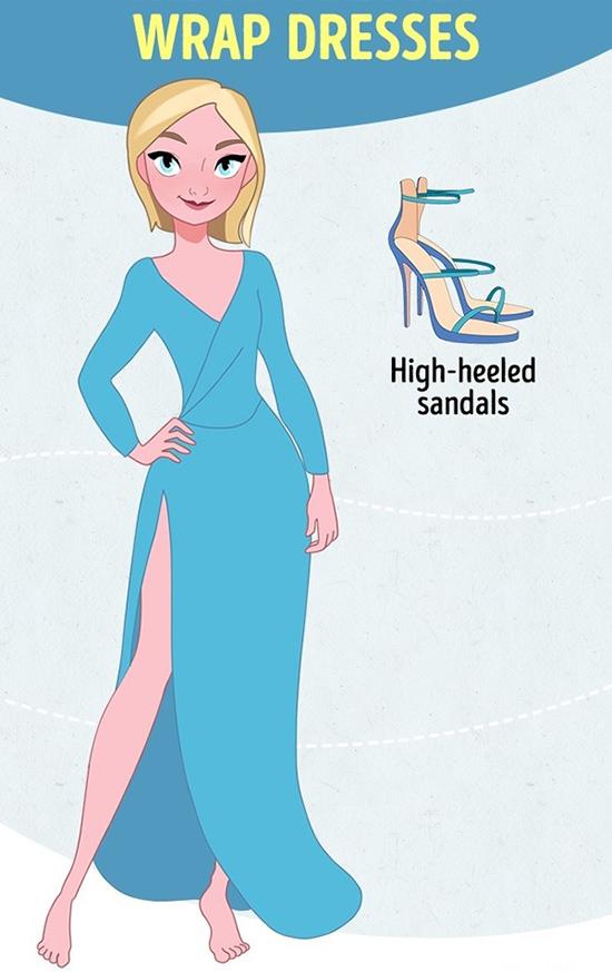 Váy quấn maxiTương tự, đường xẻ khoe chân sẽ thêm phần cuốn hút khi bạn mang sandal cao gót kiêu sa.
