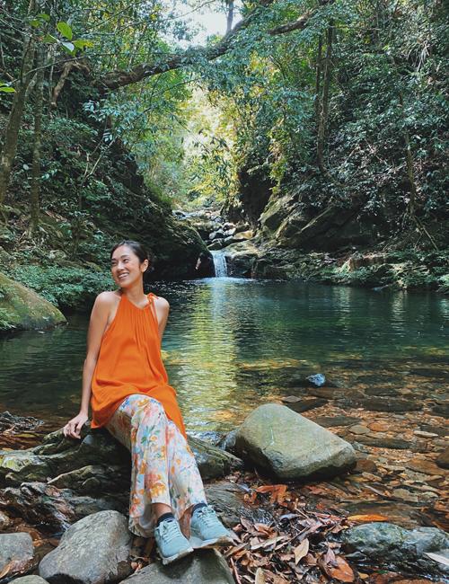 Misoa không quên khám phá thiên nhiên tuyệt đẹp ở Vườn quốc gia Bạch Mã.