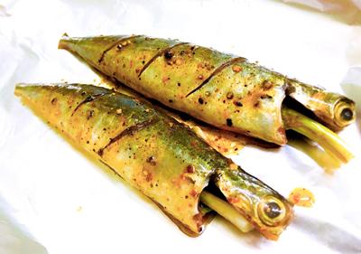 Cá nục nướng măng - 2