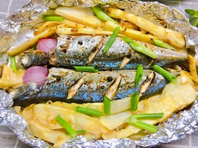 Cá nục nướng măng - 5
