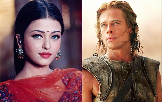 Aishwarya Rai và Brad Pitt thời trẻ.