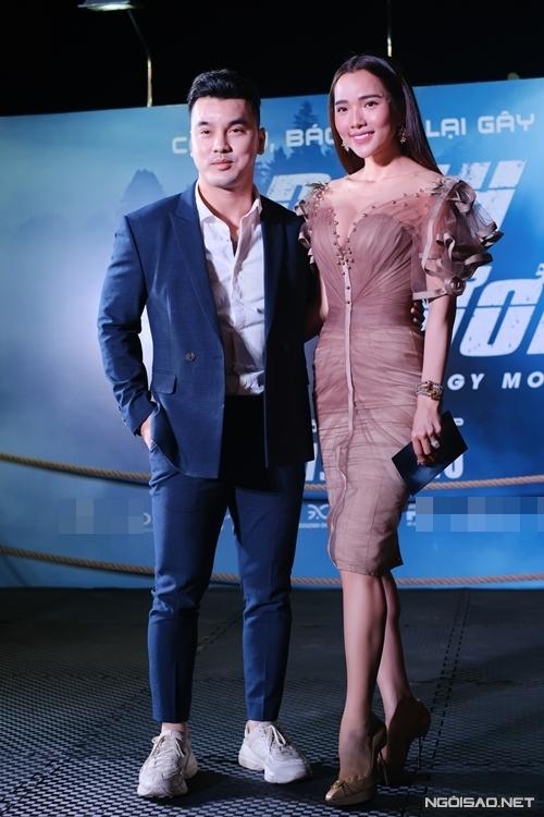 Ông trùm Bùi Viện Ưng Hoàng Phúc đưa bà xã Kim Cương tới xem phim.